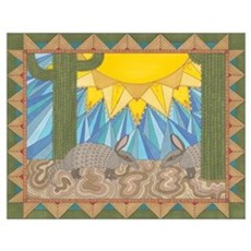A is for Armadillo Wall Art Poster