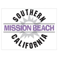 Mission Beach Wall Art Poster