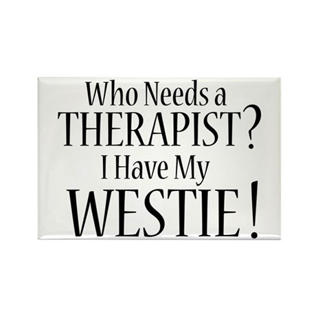 THERAPIST Westie Rectangle Magnet