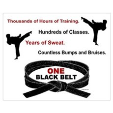 ONE Black Belt 1 Wall Art Poster