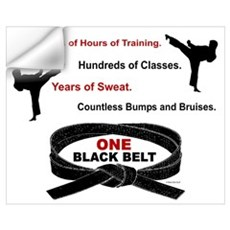 ONE Black Belt 1 Wall Art Wall Decal