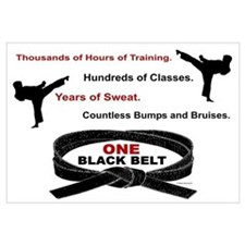 ONE Black Belt 1 Wall Art
