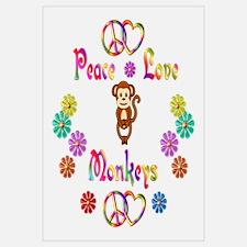 Peace Love Monkeys Wall Art