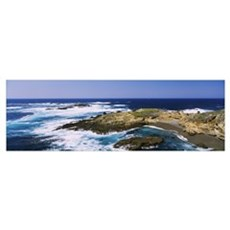 High angle view of surf on the beach, Point Lobos  Poster