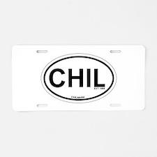 Chilmark MA - Oval Design. Aluminum License Plate