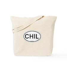 Chilmark MA - Oval Design. Tote Bag