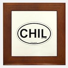 Chilmark MA - Oval Design. Framed Tile
