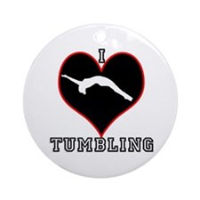 I Love Tumbling Ornament (Round)