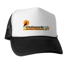 "Chilmark MA ""Beach"" Design. Trucker Hat"