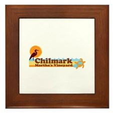 """Chilmark MA """"Beach"""" Design. Framed Tile"""