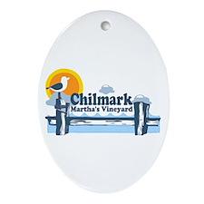 """Chilmark MA """"Pier"""" Design Ornament (Oval)"""