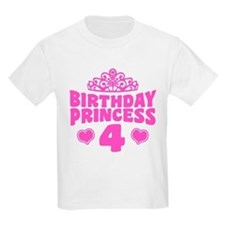 4th Birthday Princess T-Shirt