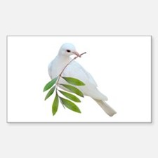 Dove Olive Branch Sticker (Rectangle)