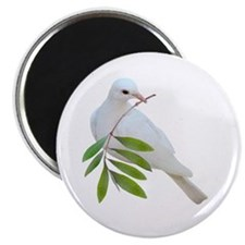 "Dove Olive Branch 2.25"" Magnet (10 pack)"
