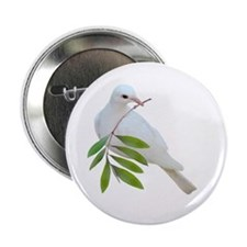 "Dove Olive Branch 2.25"" Button"