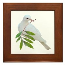 Dove Olive Branch Framed Tile
