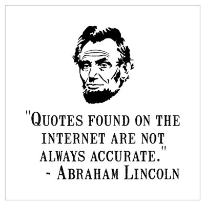 Lincoln Internet Wall Art Poster