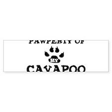 Pawperty: Cavapoo Bumper Bumper Sticker