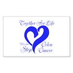 Stop Colon Cancer Sticker (Rectangle 10 pk)