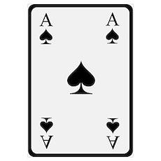 Poker card ace Wall Art Poster