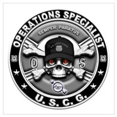 USCG Operations Specialist Sk Wall Art Poster