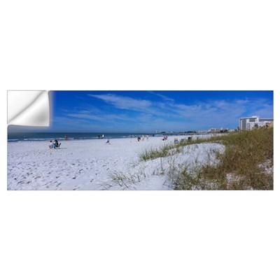 Tourists on the beach, Crescent Beach, Gulf Of Mex Wall Decal