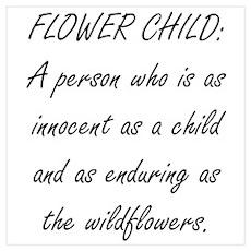 Flower Child Wall Art Poster