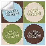 Brain art Wall Decals