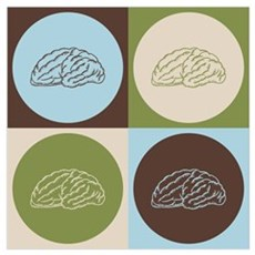 Neuroscience Pop Art Wall Art Poster