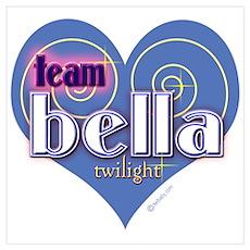 Team Bella Big Blue Heart Wall Art Poster