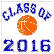 Class Of 2016 Basketball Wall Art Canvas Art