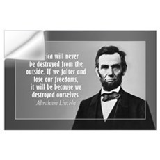 Abe Lincoln Quote on America Wall Art Wall Decal