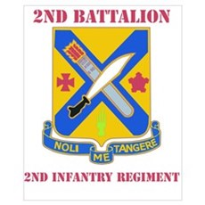 DUI - 2nd Bn - 2nd Infantry Regt with Text Mini Po Poster