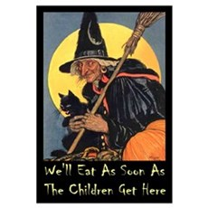We'll Eat When the Kids Get H Wall Art Framed Print