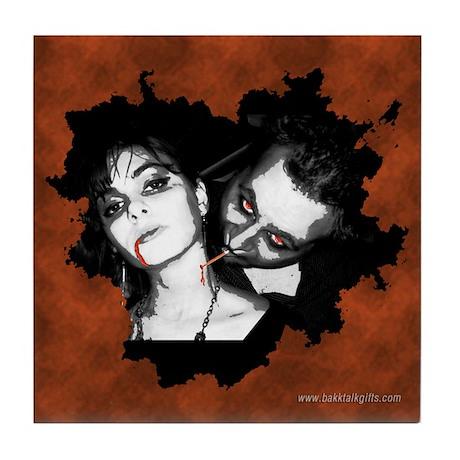 Upscale Vampire... Tile Coaster