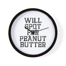 Will spot for peanut butter Wall Clock
