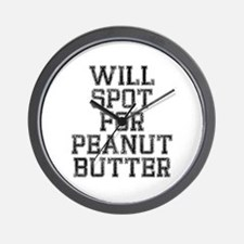 Will spot for peanut butter Wall Clock