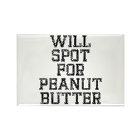 Will spot for peanut butter Rectangle Magnet