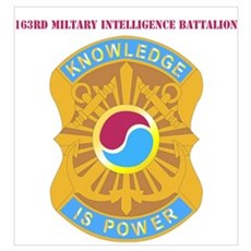 DUI - 163rd Military Intelligence Bn with Text Min Poster