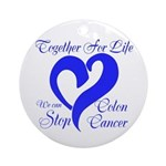 Stop Colon Cancer Ornament (Round)