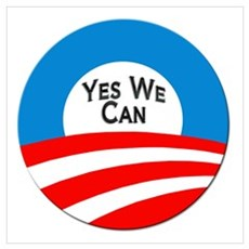 Yes We Can Logo Wall Art Poster