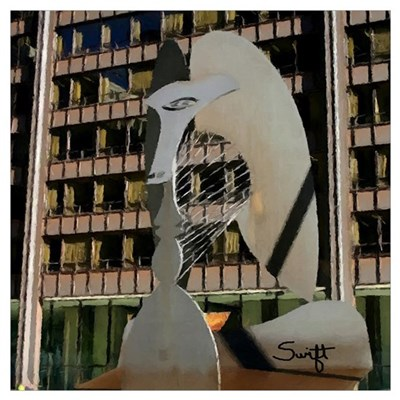Chicago Picasso Sculpture Wall Art Poster