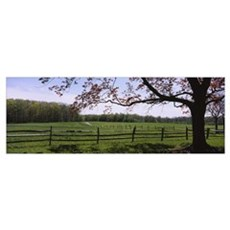 Wooden fence in a farm, Knox Farm State Park, East Poster