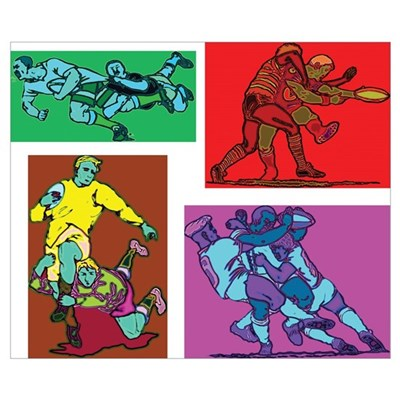 Pop Art Rugby Wall Art Poster