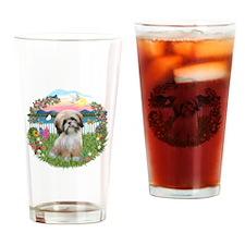 Garden-Shore-ShihTzu#13 Drinking Glass
