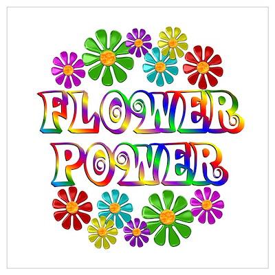 Flower Power Wall Art Poster