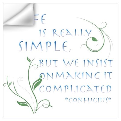 Life is Simple Wall Art Wall Decal