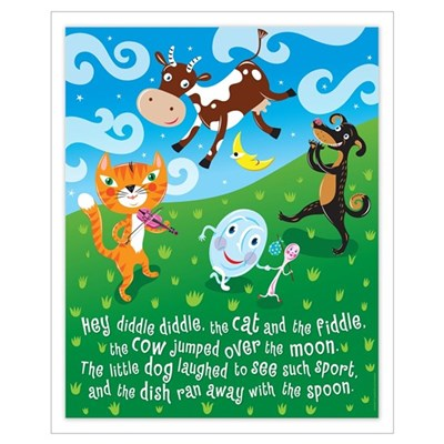 """Hey Diddle Diddle"" Poster Canvas Art"