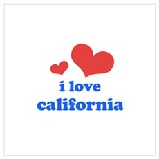 I Love California Wall Art Framed Print