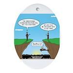 KNOTS GPS Ornament (Oval)
